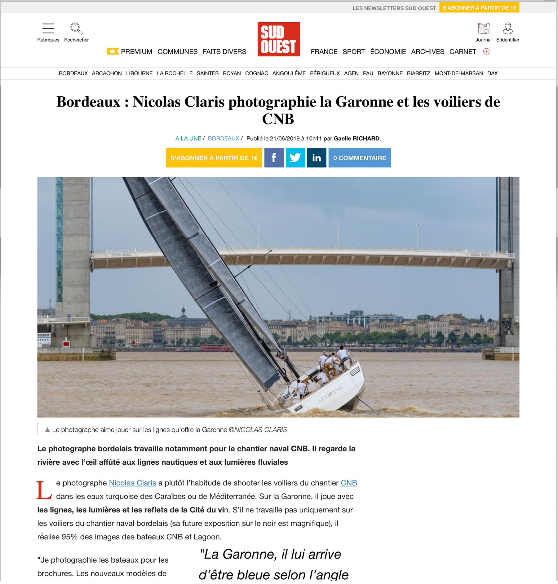 A Nice Article In Sud Ouest Nicolas Claris En